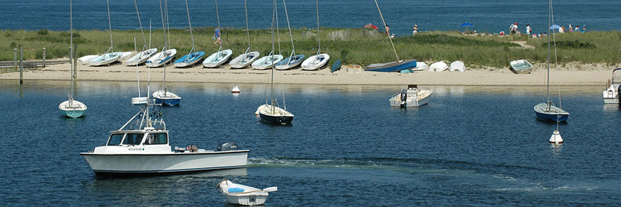 boats in Oak Bluffs Harbor